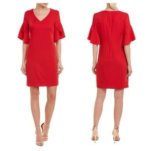 New Trina Turk Rocks Tulip Sleeve Shift Dress Sz 6